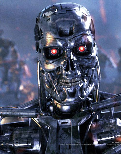 T-800 Terminator head closeup