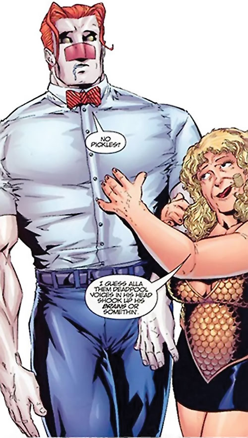 T-Ray (Deadpool enemy) (Marvel Comics) brain-damaged
