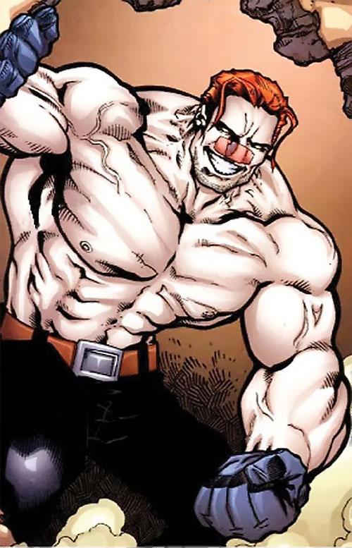 T-Ray (Deadpool enemy) (Marvel Comics) massively muscular
