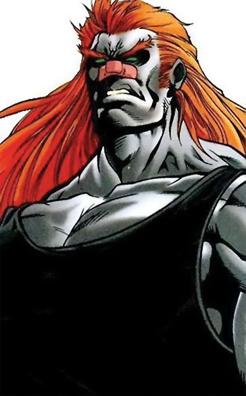 T-Ray (Deadpool enemy) (Marvel Comics) with black tank top