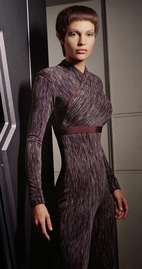 T'Pol (Jolene Blalock in Star Trek Enterprise) dark uniform body cast