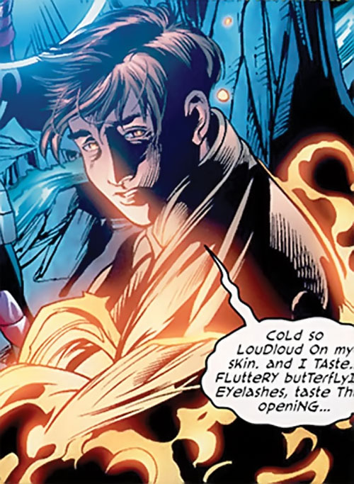 T.V.M. the Trans-Volitional Man of the Dreambound (DC Comics trinity) babbling in the dark