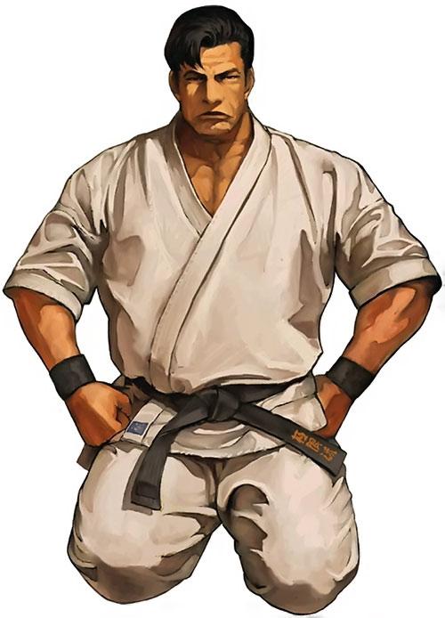 Mister Karate (Takuma Sakazaki) (King of Fighters) sitting