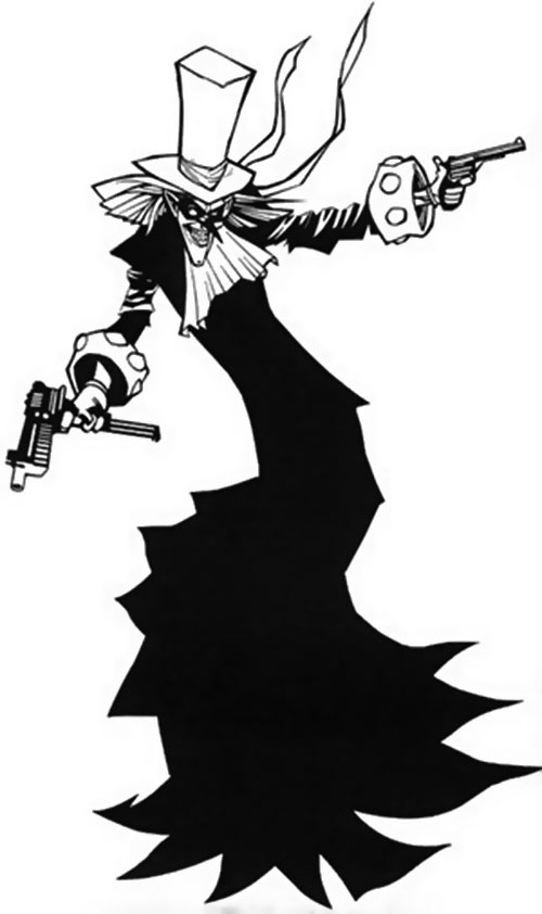 The Tally Man (Batman enemy) (DC Comics) B&W art
