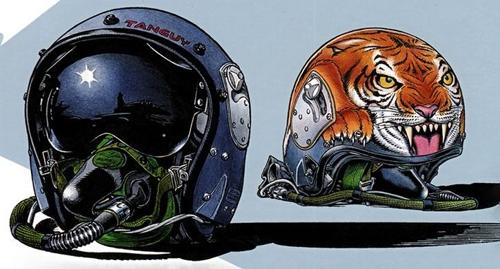Tanguy and Laverdure flight helmets