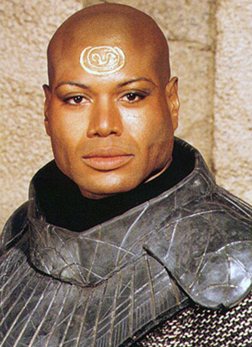 Teal'C (Christopher Judge in Stargate) portrait in Jaffa armor