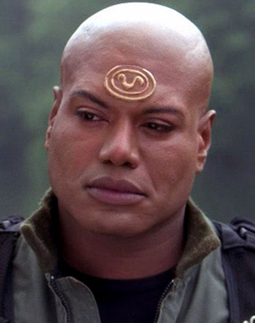 Teal'C (Christopher Judge in Stargate) face closeup