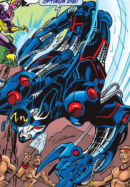 Techno (the Fixer) of the Thunderbolts (Marvel Comics) extending his body