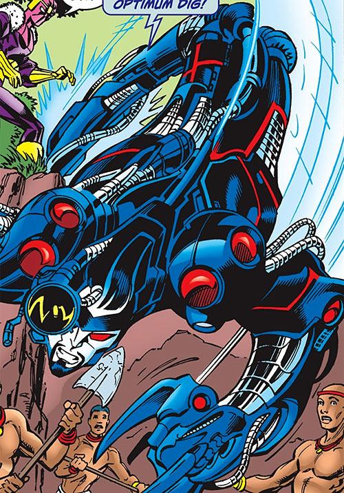 Techno (the Fixer) of the Thunderbolts (Marvel Comics) extending his body