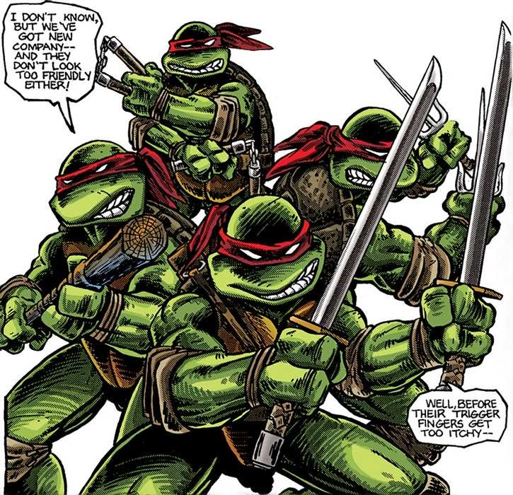 The TMNT ready to fight