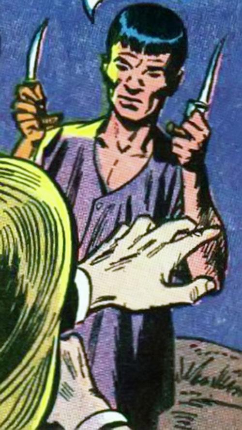 Tejja the silek killer (Batman enemy) (DC Comics) dual-wielding knives