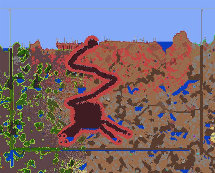 Terraria crimson corruption containment diagram