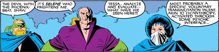 Tessa of the Hellfire Club (Marvel Comics X-Men) with Leland and Shaw