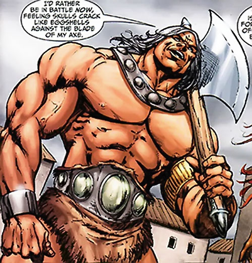 Thanador (Claw the Unconquered and Red Sonja enemy) (Wildstorm comics) as a barbarian