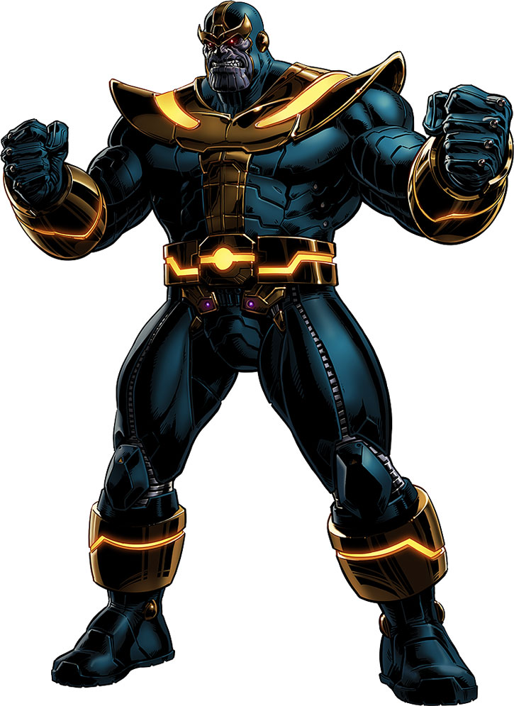 Modern version of Thanos on a white background