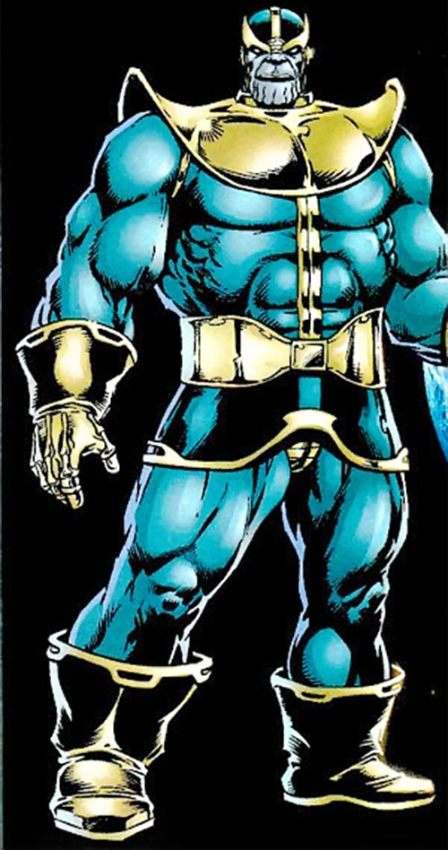 Thanos (Marvel Comics) over a black background