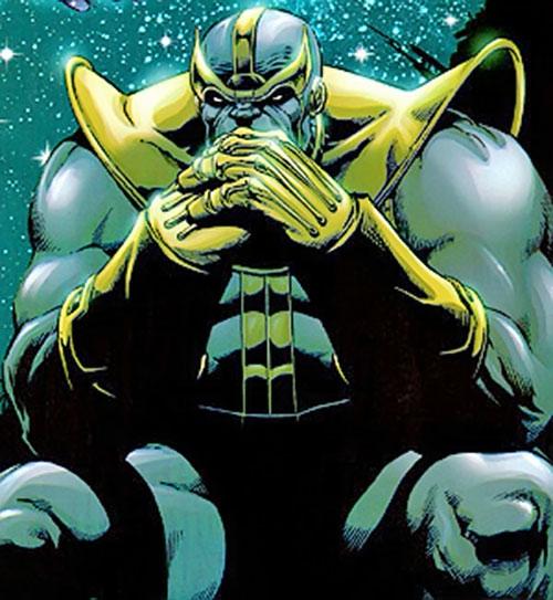 Thanos (Marvel Comics) pondering