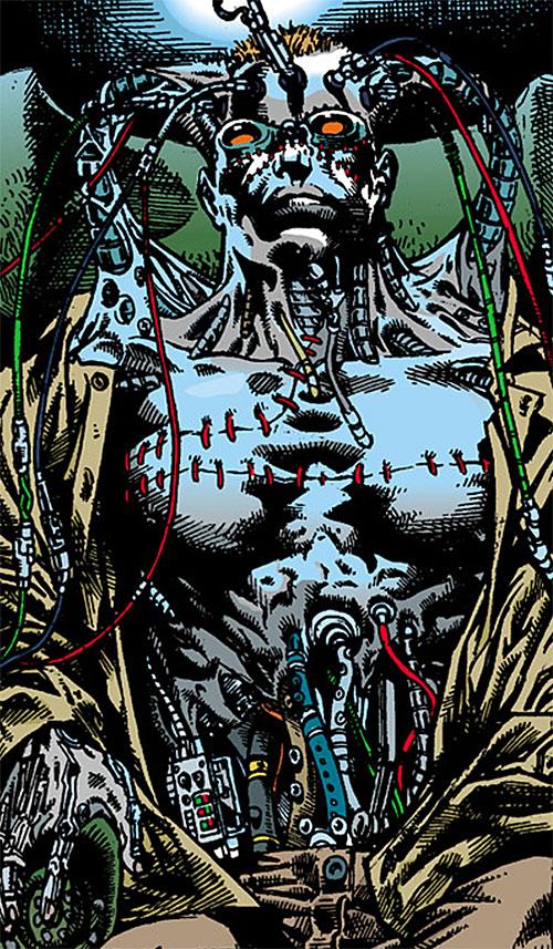 The Machine (Dark Horse comics) in a green chair