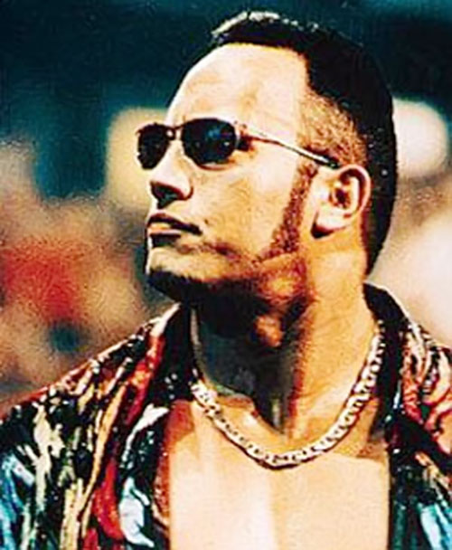The Rock with sideburns