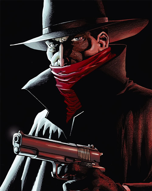 The Shadow (Matt Wagner's Year One) (Dynamite Comics) in darkness with pistol