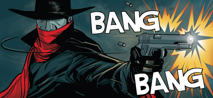 The Shadow (Matt Wagner's Year One) (Dynamite Comics) shooting his .45