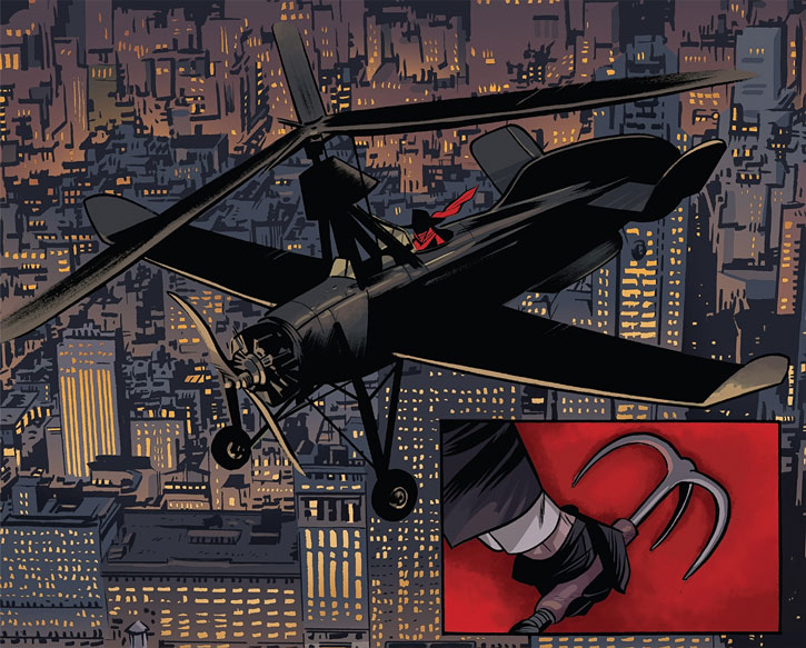 The Shadow (Matt Wagner's Year One) (Dynamite Comics) - autogyro and grapnel