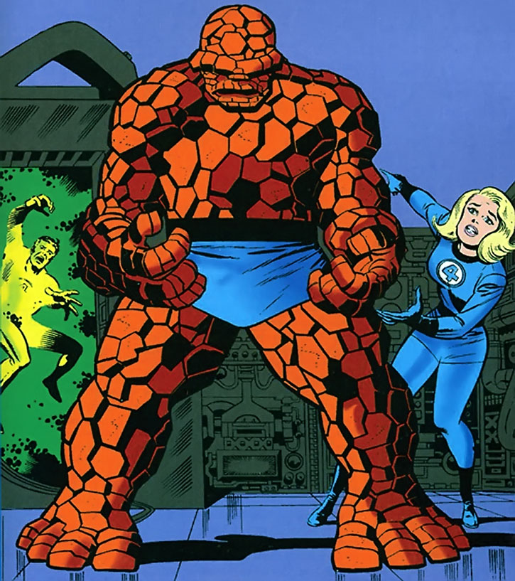 Iconic cover art of The Thing (Ben Grimm)