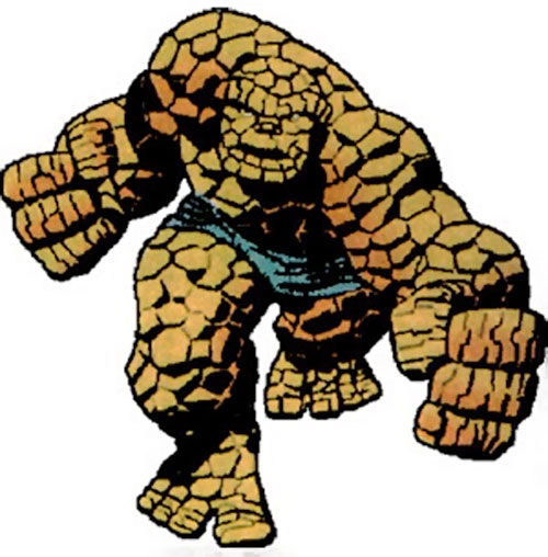 Classic Thing of the Fantastic Four (Marvel Comics) ready for the clobbering time