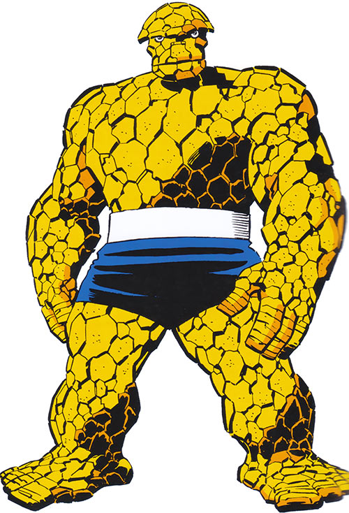 Classic Thing of the Fantastic Four (Marvel Comics) in a black leotard