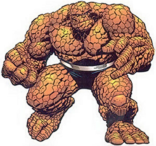 Thing of the Fantastic Four (Marvel Comics) ready to fight