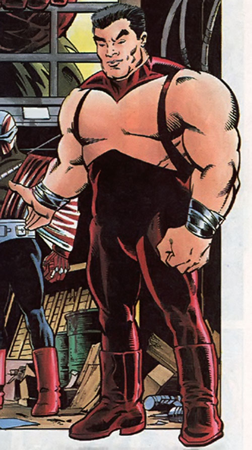 Third Rail of the Blood Syndicate (Milestone Comics) with the red costume