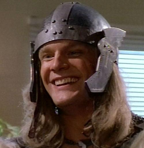 Thor (Eric Kramer in Incredible Hulk Returns) (Marvel movie) smile and helmet