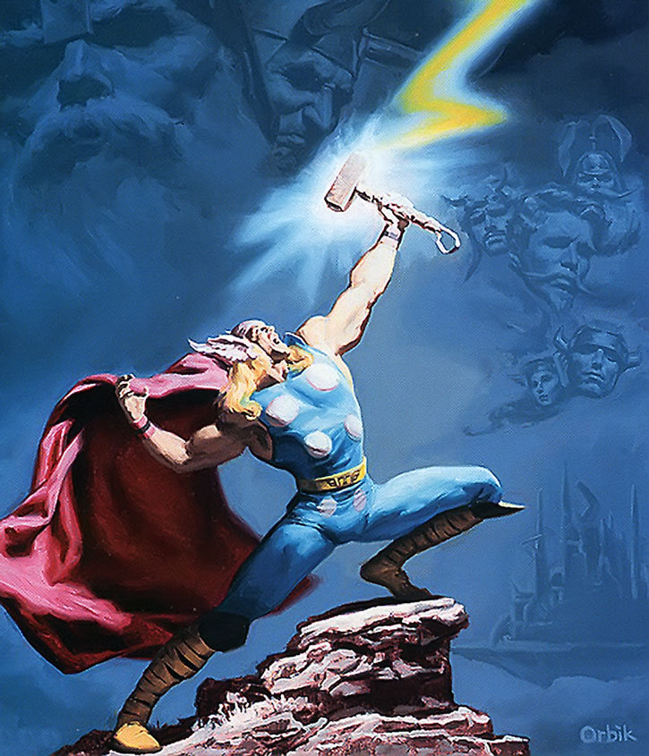 Thor painted art by Orbik