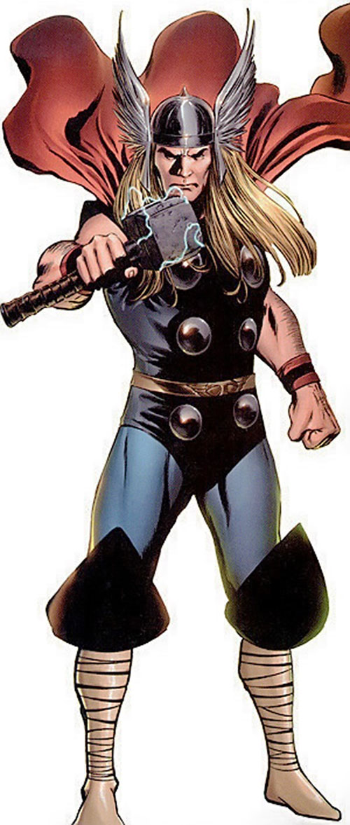 Thor (Marvel Comics) with lightning around mew-mew