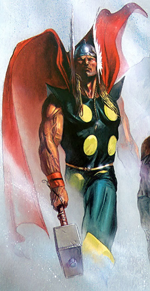 Thor (Marvel Comics) and his veiny arms