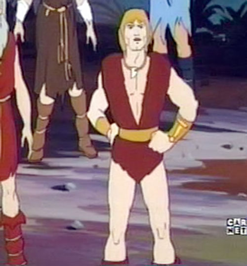 Thundarr the Barbarian standing proud in a crowd