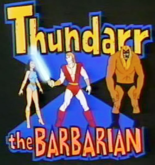 Thundarr the Barbarian with Ariel, Ookla and title