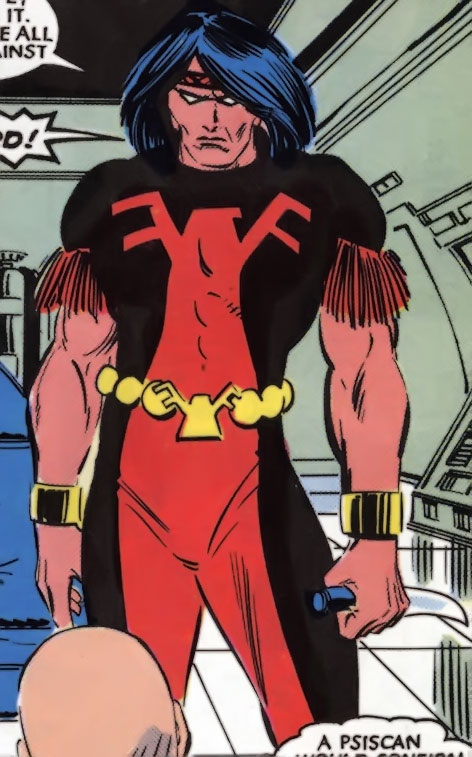 Thunderbird (James Proudstar) of the Hellions (Marvel Comics) with his brother's costume
