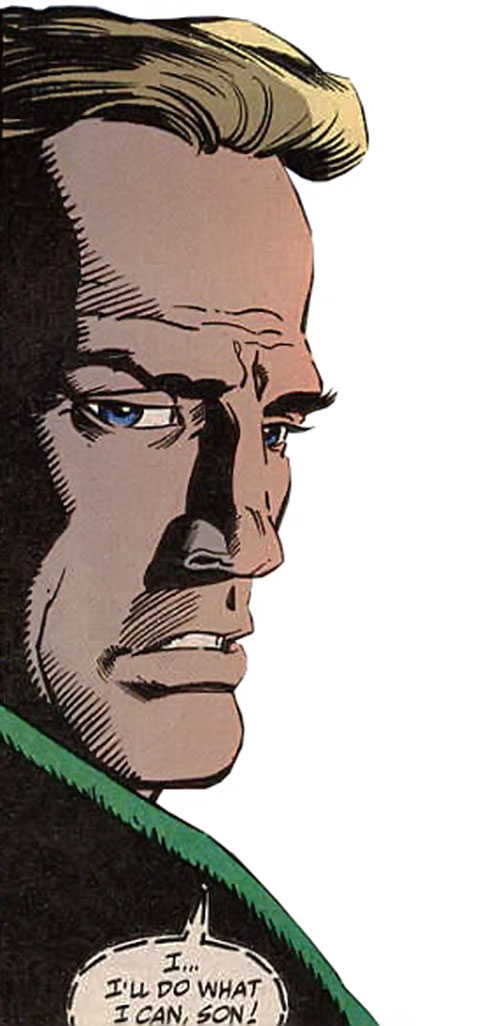 Thunderstrike of the Avengers (Marvel Comics) face closeup no beard