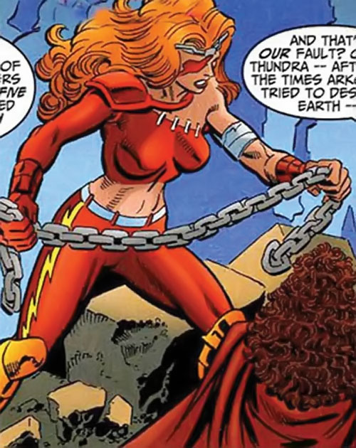 Thundra (Marvel Comics) and the Scarlet Witch