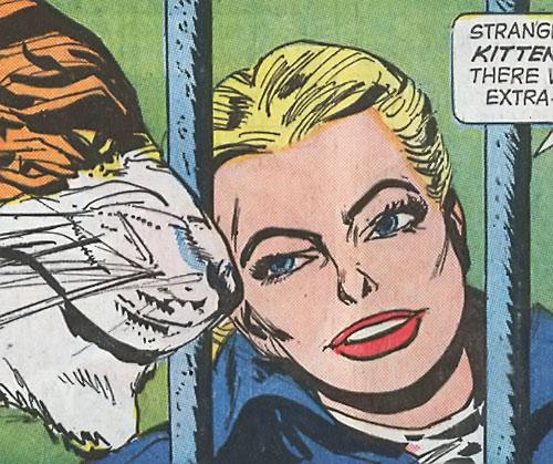 Tiger Girl (Golden Key comics) talking to her beast
