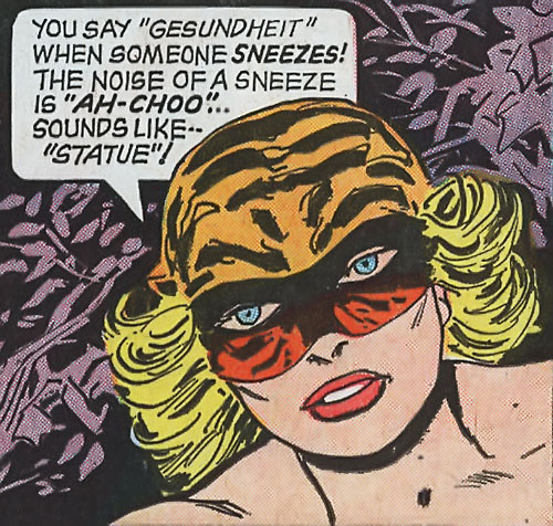 Tiger Girl (Golden Key comics) face and an unlikely deduction