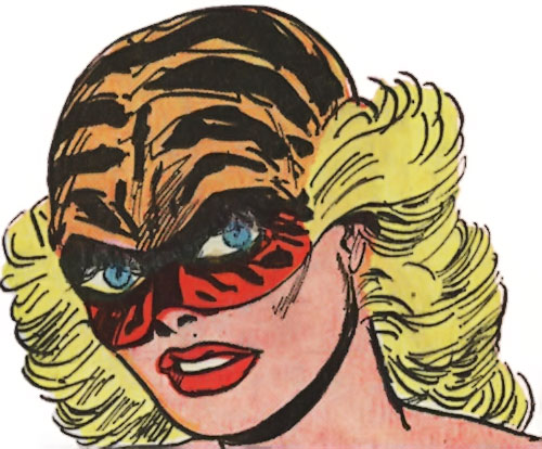 Tiger Girl (Golden Key comics) face closeup