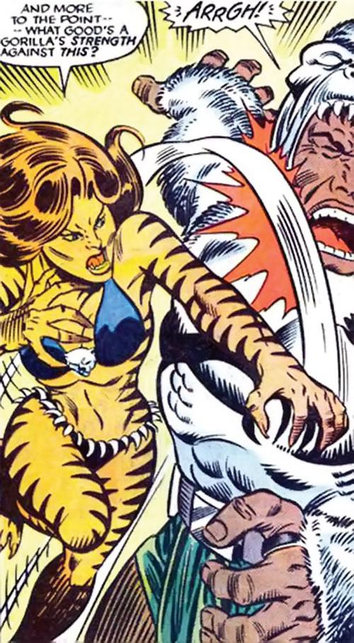 Tigra of the Avengers West Coast (Marvel Comics) vs. Man-Ape