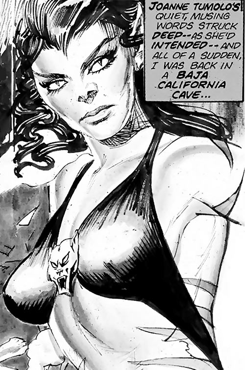 Tigra (Marvel Comics) (Early version) B&W depiction