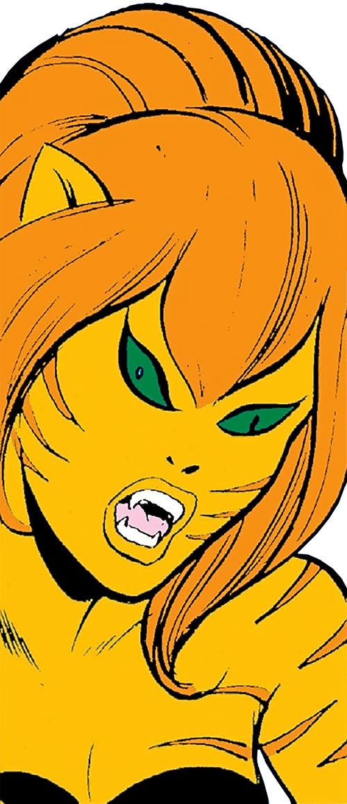 Tigra (Marvel Comics) (Early version) face closeup