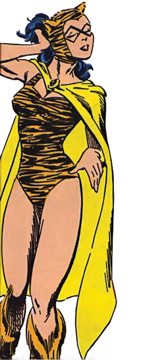 Tigress of the Young All-Stars (DC Comics) (Brooks) posing like a starlet