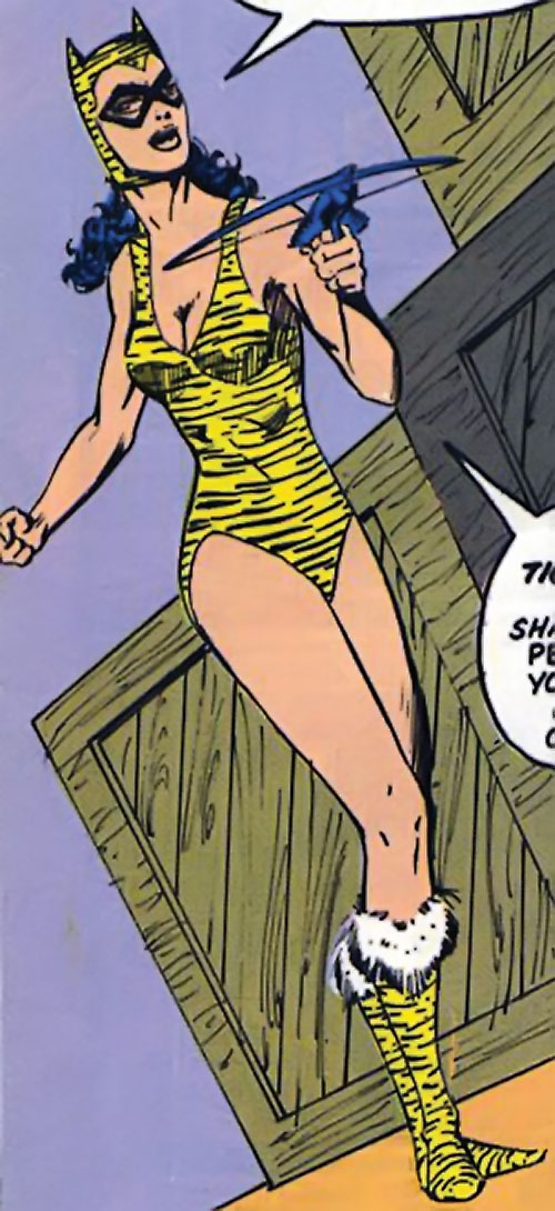 Tigress of the Young All-Stars (DC Comics) (Brooks) with a crossbow pistol