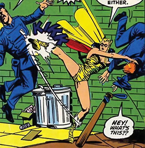 Tigress of the Young All-Stars (DC Comics) (Brooks) manhandling cops