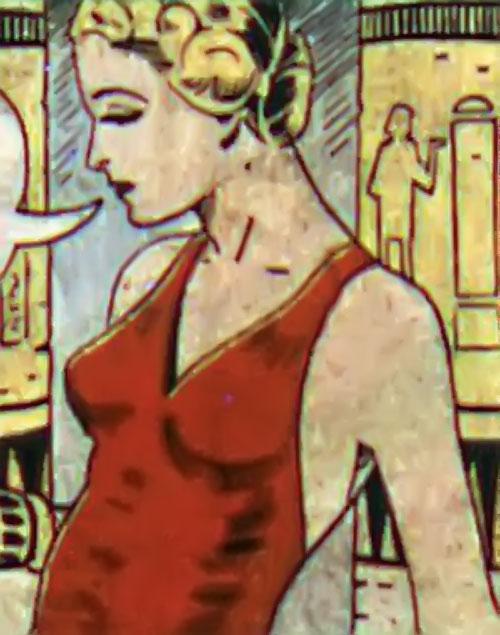 Tigress (Zatara character) (DC Comics Golden Age) in an Egyptian tomb